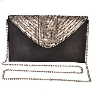 Diwaah Women Evening/Party Black Canvas Sling Bag SLBEBEYZUEFCAKZU