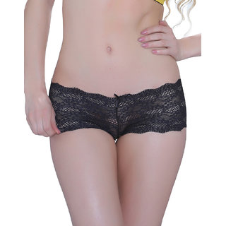 Fashion Lace Hipster In Black  (PN0039N13)