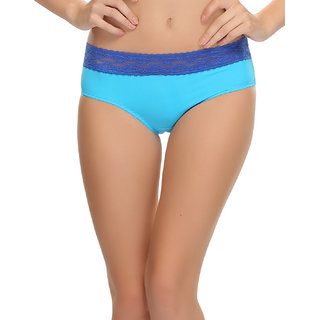 Trendy Brief In Blue With Lace  (PN0275Q47)