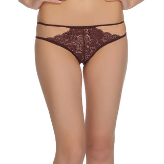 Strappy Dark Purple Lace Bikini  (PN0354P15)