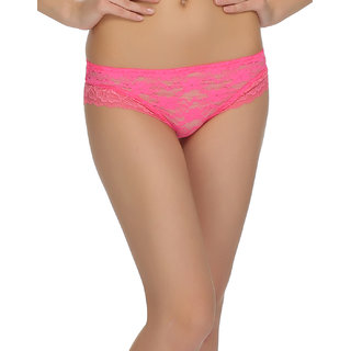 Sexy Lace Brief In Exotic Pink  (PN0365P22)