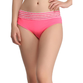 Trendy Lacy Panty In Pink  (PN0381P22)