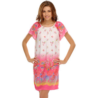 Short Nightdress With Cute Floral Prints  (NS0527P18A)