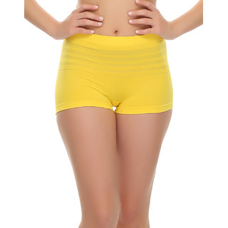 Soft Stretchy Boy Shorts In Yellow  (PN0408P02)