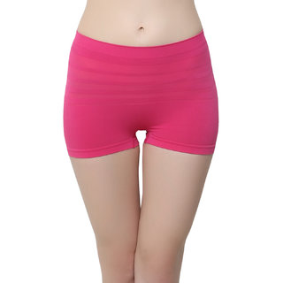 Soft Stretchy Boy Shorts In Pink  (PN0408P14)