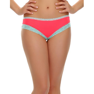 Lacy Neon Pink Hipster  (PN0427P22)