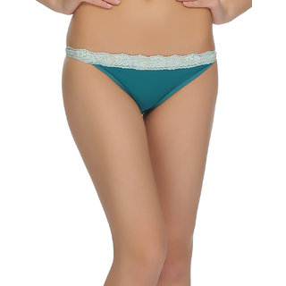 Trendy Bikini With Laces In Dark Green  (PN0435P17)