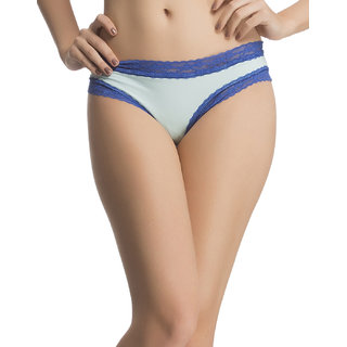 Side Laced Polymide Brief In Light Blue  (PN0524P03)