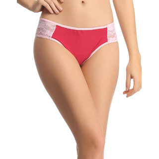 Trendy Lacy Panty In Dark Red  (PN0527P09)