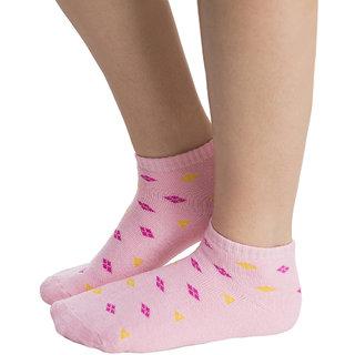 Short Ankle Socks In Pink  (SC0002P22)