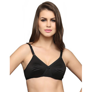Cotton Rich T Shirt Bra With -Over Moulded Cups In Black  (BR0242P13)