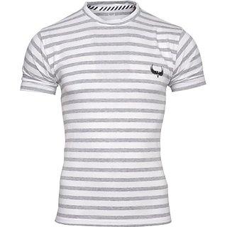 Avenster Sport Striped Men Round Neck TShirt