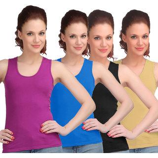 Sona Women Multicolor Sando Camisole (8009-L.PRL-SB-BLK-SKIN)