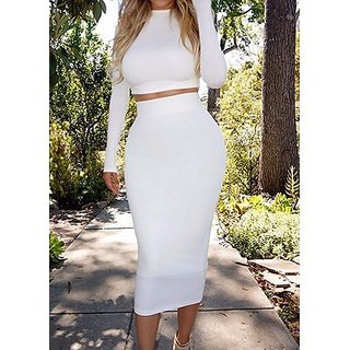 White Skirt Top