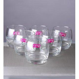 1dd7319d751 Buy LyraGlassware Lune Dof 325 ML Everyday Glass - Set of 6 Online ...