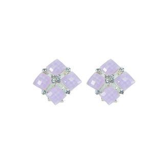 RKS Beautiful Purple Square Shape Earring
