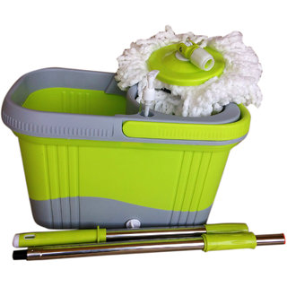 Affis Green Virgin Plastic Mop with two mop refills