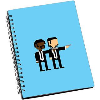 ShopMantra Pulp Fiction Minimal Pixel Art Notebook
