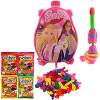 Holi Water Pichkari BACK PACK CARTOON Tank Squirter F21 With Gulal Ballloons Assorted Color