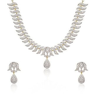 ENZY Incredible Rhodium Polish Necklace Set For Women