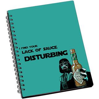 ShopMantra Darth vader Lack Of Sauce Notebook