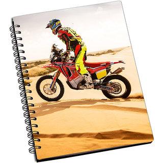ShopMantra Biker In Desert Notebook