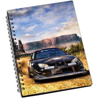 ShopMantra Dirt 2 Black Car Notebook