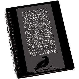 ShopMantra GOT House Stark Quotes Notebook