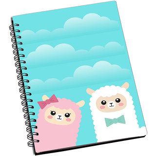 ShopMantra Cute Sheep Couple Notebook
