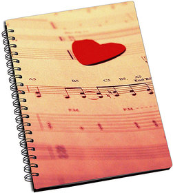 ShopMantra Music notes Love Notebook