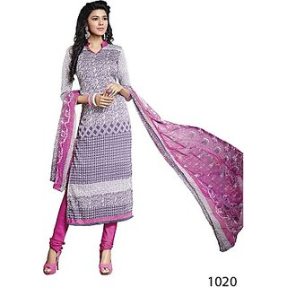 Sunaina Crepe Printed Salwar Suit Dupatta Material (Un-stitched) FABEBR5ZVSUSMAJ7