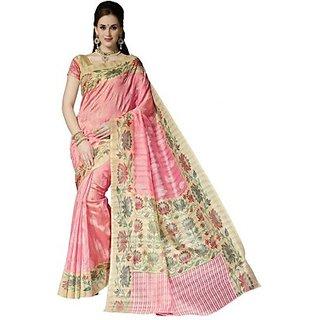 Sunaina Printed Bhagalpuri Cotton Linen Blend Sari SARECYW8YJAAB944