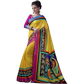 Sunaina Printed Fashion Cotton Linen Blend Sari SAREDF6VJNN5FTGH