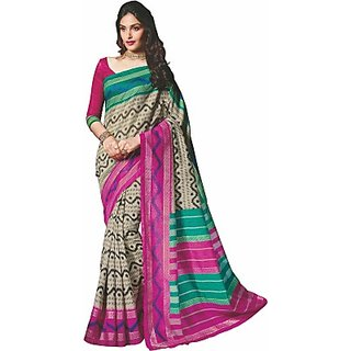 Sunaina Printed Fashion Cotton Linen Blend Sari SAREE8A8JCGWJGNC