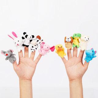 Awals Animal Finger Puppets - Set Of 10