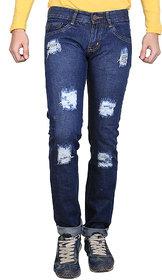 Ave Men's Blue Slim Fit Jeans