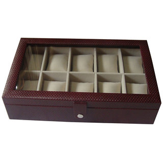 Maroon Leather Watch Case