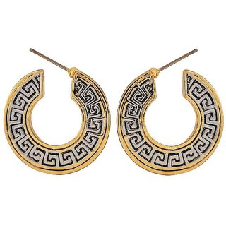 Maayra Sensual Gold Silver Designer College Drop Earrings
