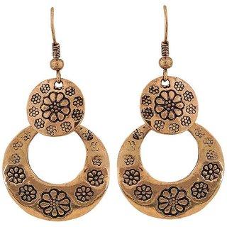 Maayra Graceful Gold Designer College Dangler Earrings