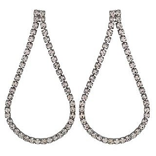Maayra Lovely Silver Victorian College Drop Earrings