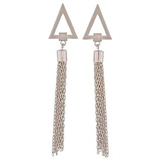 Maayra Special Silver Designer Get-Together Drop Earrings