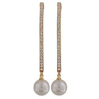 Maayra Amazing White Pearl Casualwear Drop Earrings