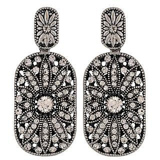 Maayra Great Silver Victorian Party Drop Earrings