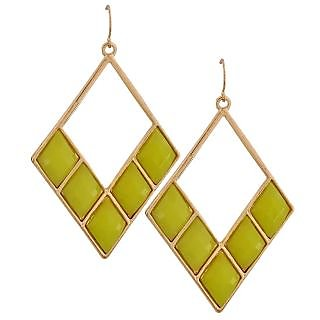 Maayra Classy Yellow Designer Party Dangler Earrings