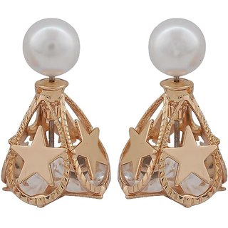 Maayra Posh Gold Designer Get-Together Stud Earrings