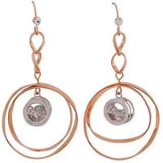 Maayra Sexy Bronze Silver Designer Casualwear Dangler Earrings