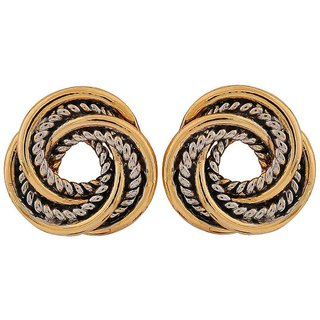 Maayra Modern Gold Silver Contemporary College Stud Earrings