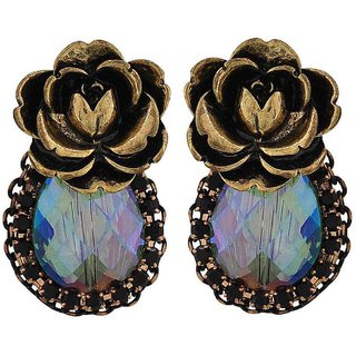 Maayra Awesome Multicolour Stone Crystals Get-Together Drop Earrings