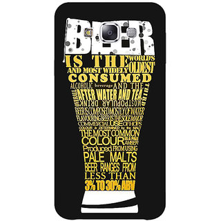 Jugaaduu Beer Quote Back Cover Case For Samsung Galaxy J5 - J1151227