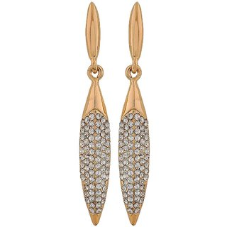 Maayra Stunning Gold Stone Crystals Get-Together Drop Earrings